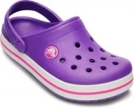 Crocband Kids Neon Purple / Neon Magenta
