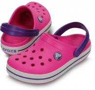 Crocband Kids Neon Magenta / Neon Purple