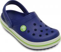 Crocband Kids Cerulean Blue / Volt Green