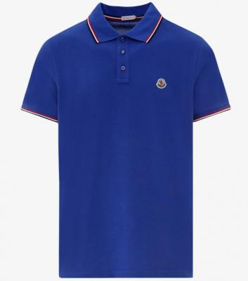 MONCLER TRICOLOR DETAILED COTTON POLO SHIRT
