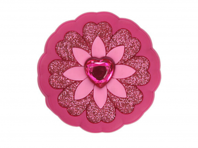 Rhinestone Heart Flower